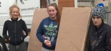 Young women on the Construction Apprenticeship Taster course